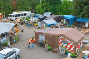"Homeless Encampment in Oregon called ""Dignity Village"""